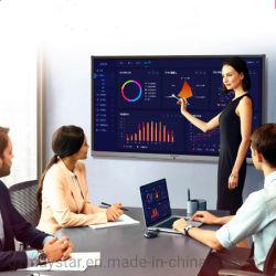 """65"""" ~ 100"""" de la pantalla LCD de 4K UHD electrónica de infrarrojos en una pantalla multitáctil de pizarra interactiva SMART Board con la cámara micrófono para conferencias y aulas"""