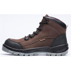 لون بني طراز الأمازون واحد لون من الجلد الأصلي حذاء من الصلب للرجال S الحماية الرياضة رياضة المشي أحذية السلامة أثناء العمل