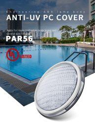18W 12V ABS plat anti-UV matériau étanche IP68 PAR56 LED sous-marin de la piscine avec éclairage à LED UL/TUV