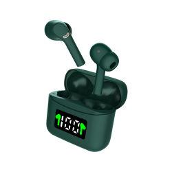 Nieuwe Handsfree Draadloze Oortelefoon 5.2 Peulen Tws van Earbuds van de Sport de Waterdichte van de Hoofdtelefoon J5 Zwarte met de Hoofdtelefoon van LEIDENE Bluetooth van de Vertoning