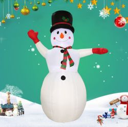 Гигантские надувные воздуха на выходе приятный рождественский снежную бабу костюмы с красными руками или оформление рекламы