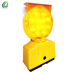 CE 마크 고휘도 Flashingt 교통 안전 경고등 LED 태양열 바리케이드 램프
