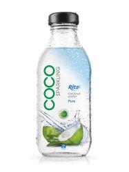 Frasco de vidro de 350 ml de água de coco