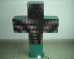 Apotheke-Kreuz des doppelten Gesichts-P20 farbenreiches im Freien LED