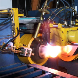 Vérin à gaz l'extrémité inférieure de la machine de fermeture Necking de filature à chaud