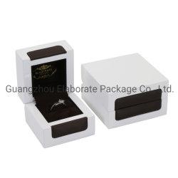 Nuevo diseño de moda de cuero de madera Caja de joyas joyero de madera