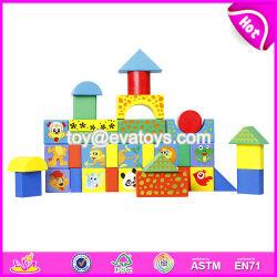 Personalizar al por mayor de 38 piezas de animales de dibujos animados de bebé el patrón de bloques de construcción para la Educación W13b031