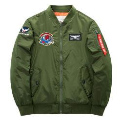 MenのためのフォーシャンFactory OEM Custom Faux Leather Waterproof Bomber Jacket
