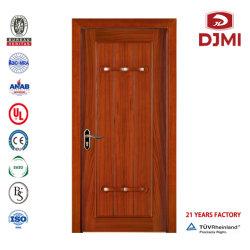 Bauholz-Schierling-Tür-Panel-automatisches schiebendes flache Einstiegstür-Mittel-Sicherheits-Tür-preiswerte hölzerne Tür-Innenholz 6 Glasinnentür-Häute des Panel-HDF