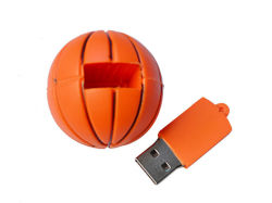 Hot Sale Cartoon Bille en caoutchouc de la forme de disque Flash USB en PVC