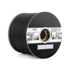 22/2の残された裸の銅の二重保護されたBc/CCA/Alの編みこみの綿の糸ホイルのマイクロフォンケーブル100m