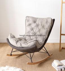 De openlucht Schommelstoelen van het Leer van de Basis van de As van de Benen van de Legering van het Aluminium van het Terras van de Tuin Moderne Houten