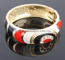 Fahionの黒くおよび赤いEnemalの合金のブレスレット(127941)