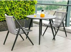Jardim Mobiliário de exterior cadeiras define a estrutura de alumínio Reunião, mesa de jantar