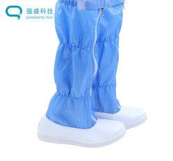 Easy-Clean leve e durável de PVC de cor de fundo suave Anti-Static calçados para a optoelectrónica