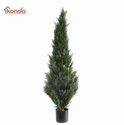 Natural de hierba artificial artificial Topiary Shapped Ciprés