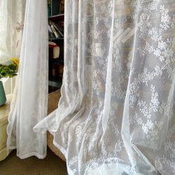Nordic Lace Fenster Bildschirm American Jacquard Balkon Bildschirm Vorhang Tür Vorhang Klein Vorhang Verschleiß Stange Breit