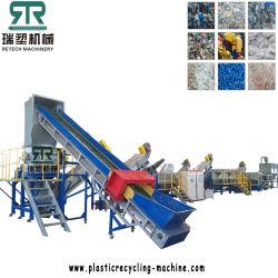 O plástico PET/PP/HDPE/LDPE/LLDPE/ABS/PS/PVC/PC/BOPP garrafa/FILME/saco/Tambor/Palete/tubulações/contentor/casa/JAR/barril a linha de lavagem de britagem máquina de reciclagem