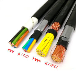 450/750V Voltaje bajo la protección de malla de alambre de cobre marinos Zr-Kvv Cable eléctrico de cobre flexible blindados de cinta aislante XLPE recubierto de PVC El Cable de control