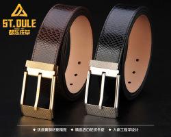 熱い販売の方法本物の革ベルト黄銅のピンバックル高い クオリティカウハイドレザーベルト(中国)メンズベルト