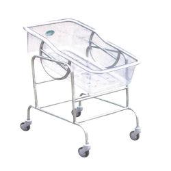 Hospital ajustable de acero inoxidable carro del bebé