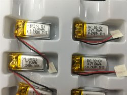 De mobiele Batterij van de Telefoon 401020 501020 3.7V In werking gestelde Lichten van het Polymeer van het Lithium van 80mAh Batterij
