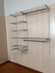 Sistema dell'armadio del guardaroba dei kit dell'armadio dell'organizzatore della scaffalatura del nastro metallico