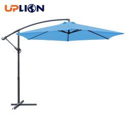 Uplion Offset Hanging Steel Frame 폴리에스테르 시장 우산 10ft 실외용 파티오 파라솔 우산