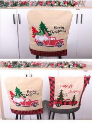 크리스마스 훈장 시트카바 자동차 식탁 의자 가구 시트카바 크리스마스 의자 덮개 리넨 수공예