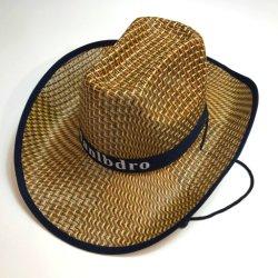 Barato Chapéu de Palha Chapéus Promocionais Brimmed grande chapéu de palha Chapéu de chapéu de praia grande bloco de sol de Verão ao longo de três homens de Palha Western Cowboy Hat Hat Homens