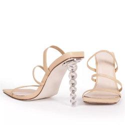 De in het groot Hielen van de Schoenen van Vrouwen Transparante Duidelijke Dame Shoes Fashion Ladies Shoes Sandals