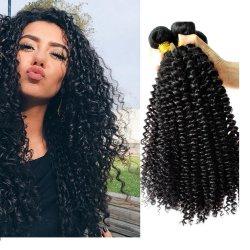 كبث الإنسان تصفي الشعر مجعد لسيدة عذراء سوداء الشعر Weave 2021 الموضة 100 ٪ الطبيعية ريمي رخيصة 13*4 أذن إلى حد ذنبوغ مخصص بحزمة 20 بوصة