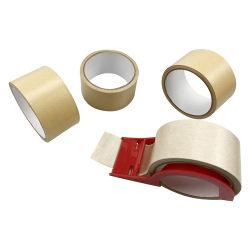 Uno de los lados de la estraza cintas autoadhesivas de papel engomado cinta de embalaje cinta de papel Kraft Kraft
