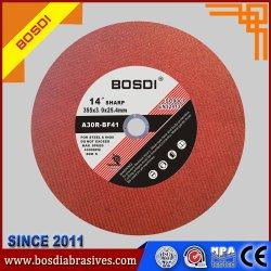 """14"""" Corte de metais abrasivo de resina não tecidos roda plana/Disco, roda de corte, produtos de metal, T41"""