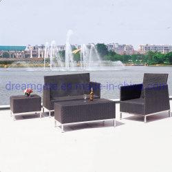 Gamba in acciaio inox moderna divano in rattan per esterni