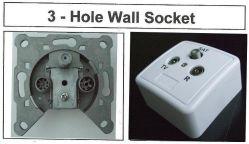 3개의 구멍 텔레비젼 벽면 소켓 출구 상자