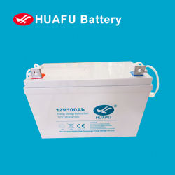 12V 100Ah герметичный блок питания без необходимости технического обслуживания солнечного гель /свинцово-кислотного аккумулятора