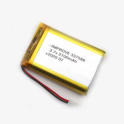 Polymer-Plastik Lipo des Lithium-3.7V nachladbare Batterie 337588 2700mAh für MP4 MP5 GPS PSP bewegliche Pocket PC E-Bücher Bluetooth
