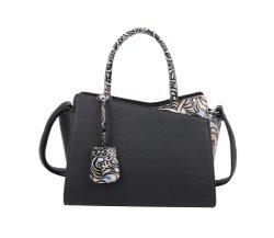 سيدة حقيبة يد أقل تصميم معدني رفع مواد الزهور كتف النساء حقيبة السيدات حقيبة اليد
