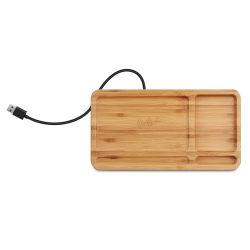 Горячий Kingmaster продажи портативного зарядного устройства беспроводной связи из бамбука 15W магнитного Wirelesss зарядки зарядное устройство для мобильных телефонов