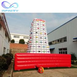 Fabricant de promotion de la tour d'escalade de plein air gonflable Mur pour vendre