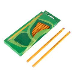 Material de escritório Equipamento escolar material de escritório promocional conjunto de Madeira Amarelo Lápis com borracha Grande Muralha marca 3544-Hb