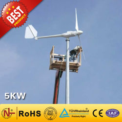 sistema di generatore della turbina di vento 5kw/vento per piccola energia eolica domestica di uso (5000W) con costo competitivo fuori dalla centrale elettrica di griglia