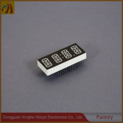 Visualizzazione di LED di segmento della cifra 7 di pollice 4 di disegno OEM/ODM 0.3 della Cina con indicatore luminoso bianco/giallo