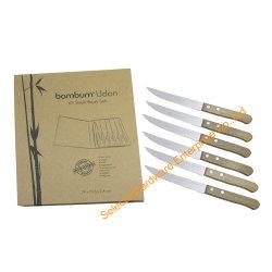 6 ПК с зазубренными лезвиями из нержавеющей стали мясной нож в подарок .