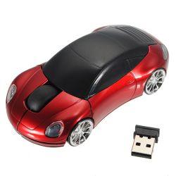 Souris sans fil 2.4G 3D Souris optique de la forme de voiture avec récepteur USB, souris créatrice de mode