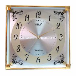 Carré classique Horloge murale avec mouvement à quartz