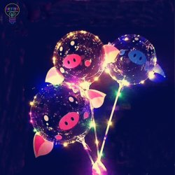 Balões de LED com paus para os brinquedos do Dia das Bruxas de Natal