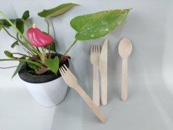생일 파티 기구를 Wedding 처분할 수 있는 나무로 되는 칼붙이 또는 숟가락 /Fork /Knife