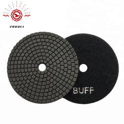 Black Buff Pads 4 pouces de tampons de polissage de diamants humide